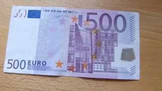 500 EURO banknote review
