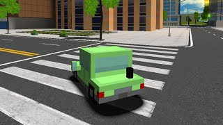 Blocky Cars in Real World // Gameplay