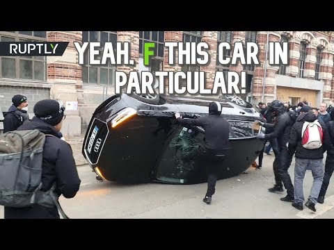 Barricades, tear gas