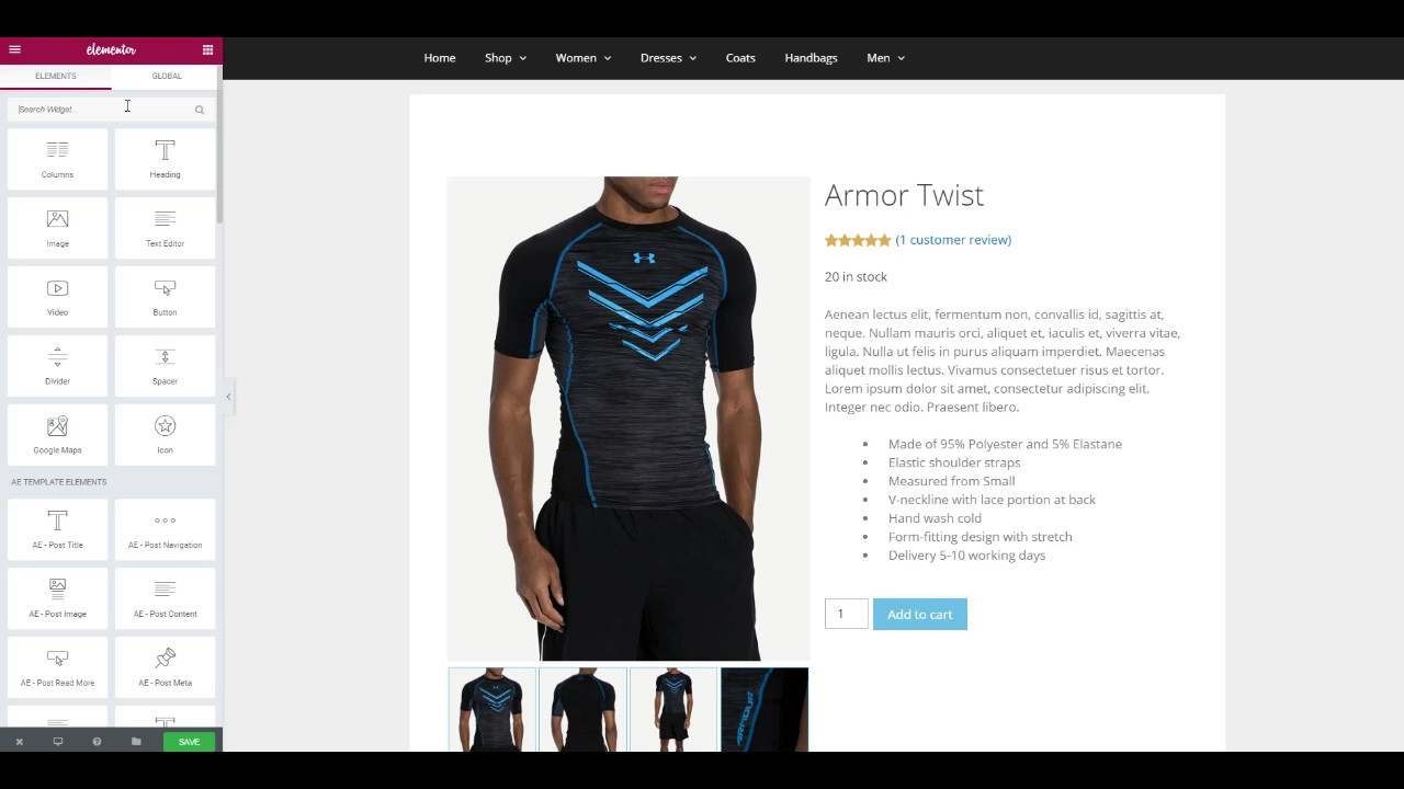 Design WooCommerce Product Layout using Elementor &