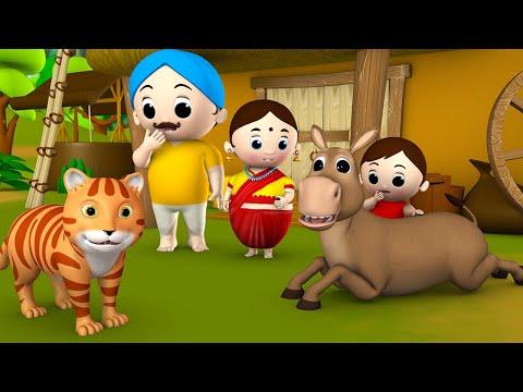 Talking Donkey Story | 啶啶侧え啷� 啶掂ぞ啶侧ぞ 啶椸ぇ啶� 啶灌た啶ㄠ啶︵ 啶曕す啶距え啷� - 3D Animated Kids Moral Stories Fairy Tales