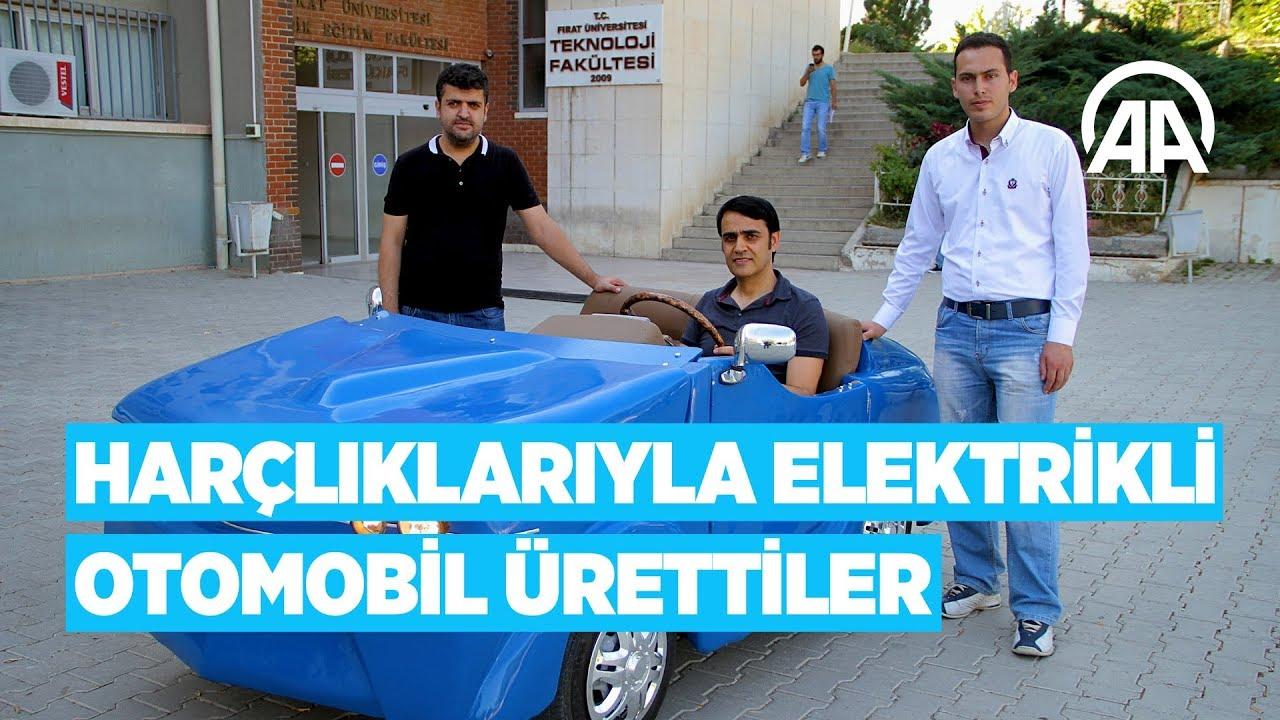 Harçlıklarıyla elektrikli otomobil ürettiler - YouTube