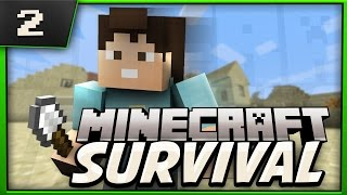 Minecraft Survival : Lets Play! Ep.2 Lucky Find!