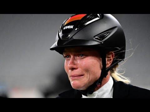 Tränen-Drama um Annika Schleu: Goldtraum zerplatzt auf dem Pferd   SID