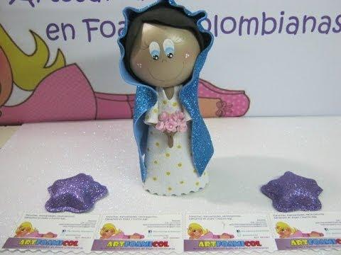 VIRGEN MARIA PARA NACIMIENTO PESEBRE O PORTAL EN FOAMY O GOMAEVA ...