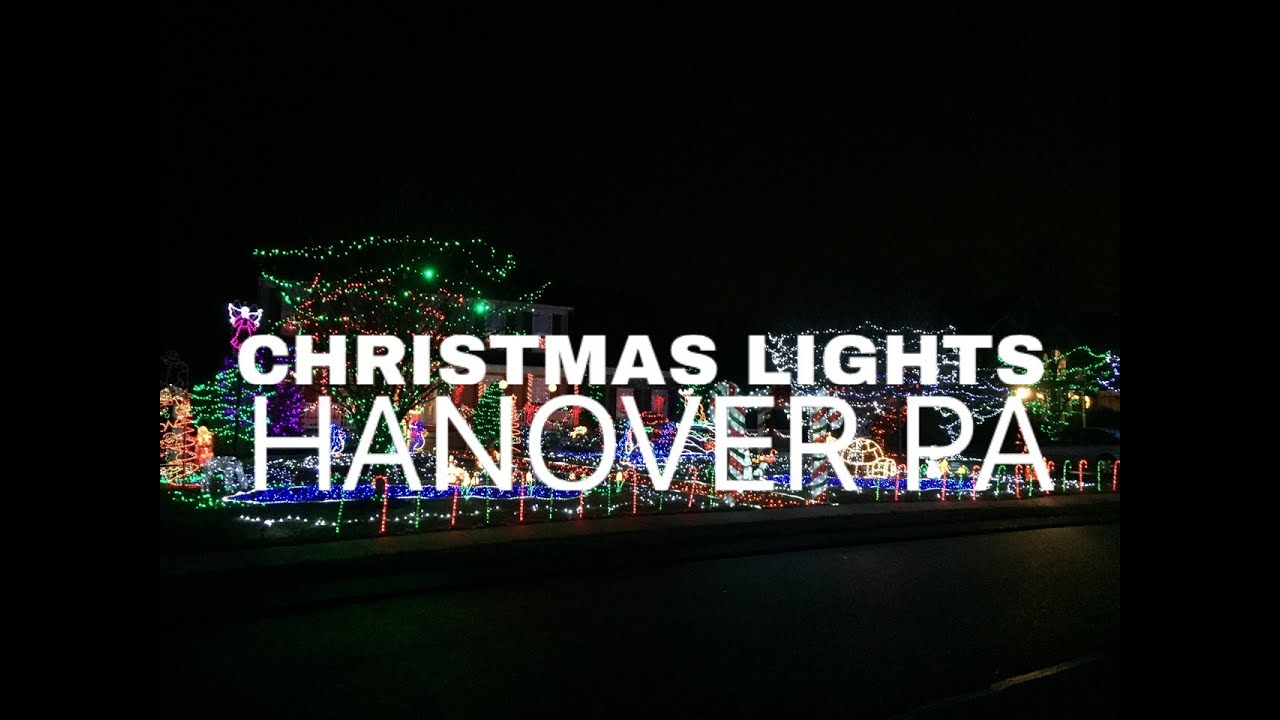 entire yard decorated christmas lights drive by in south hanover pa ryans landscaping 717 632 4074 - Drive Through Christmas Lights Pa
