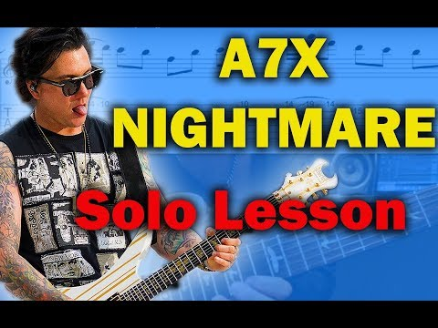 How to play 'Nightmare' by Avenged Sevenfold Guitar Solo Lesson w/tabs