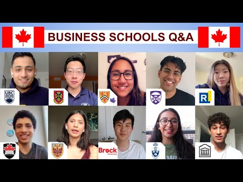 TOP 10 CANADIAN BUSINESS SCHOOLS Q&A | UofT, Queen's, UBC, Western, McMaster, etc | John Costa