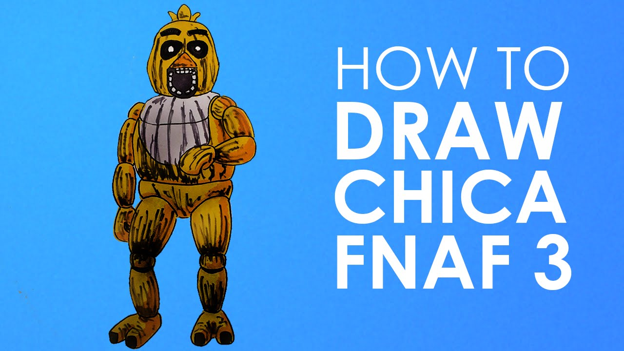 How to draw phantom chica fnaf 3 youtube