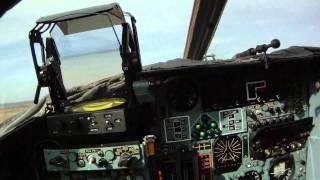 Взлет Су-24 от лица летчика