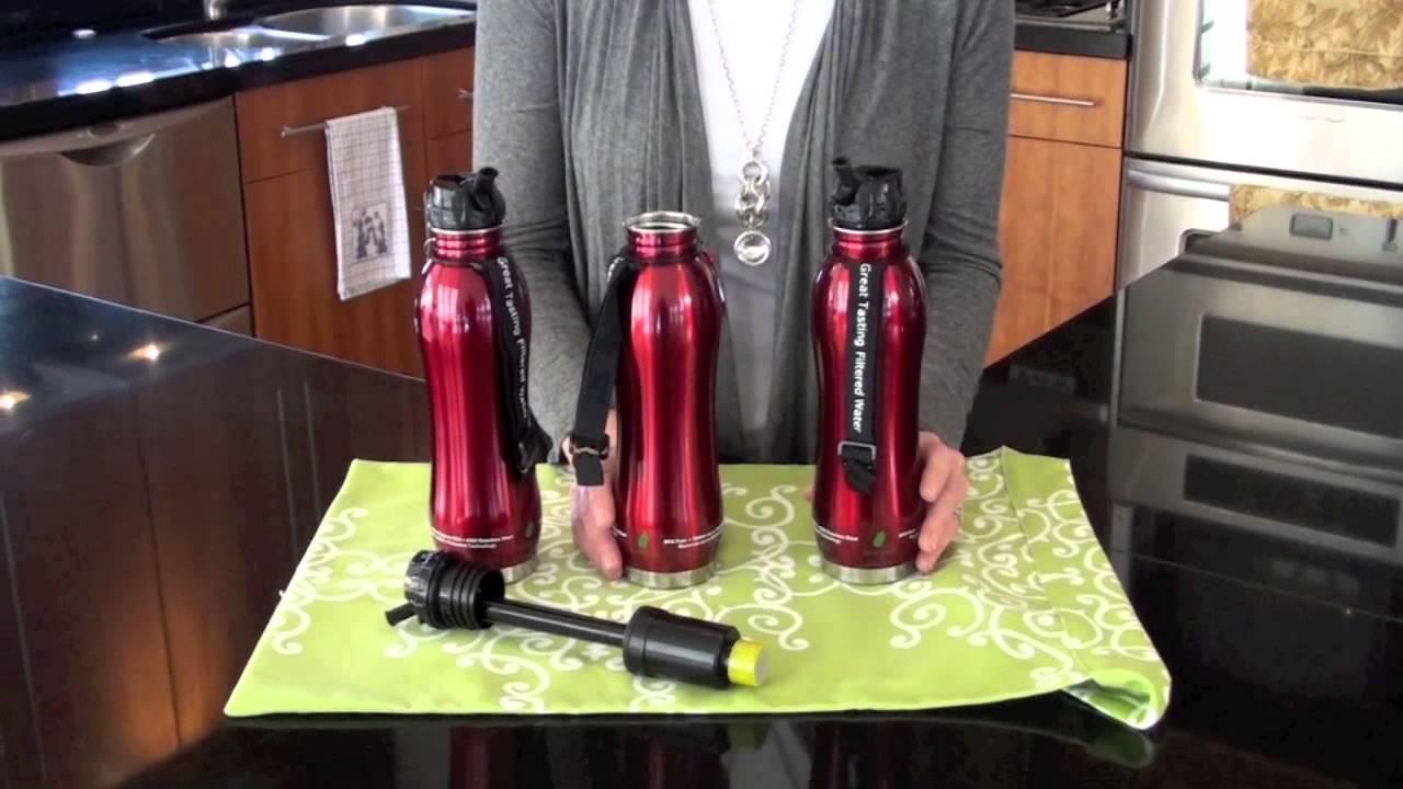 702280cca2 Stainless Steel Water Filter Bottles - YouTube