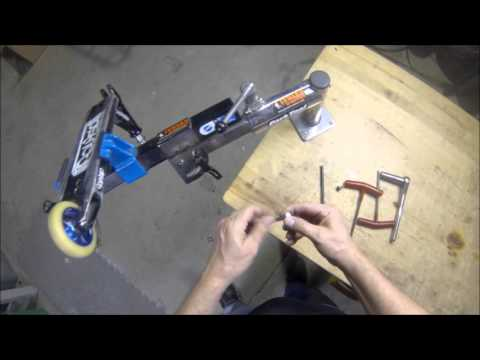 How to easily replace a pro scooter axle without removing wheel