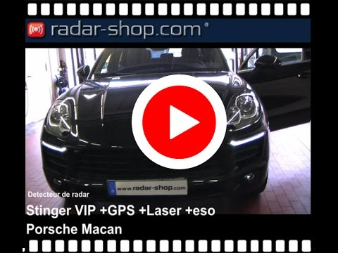 detecteur de radar stinger vip porsche macan youtube. Black Bedroom Furniture Sets. Home Design Ideas