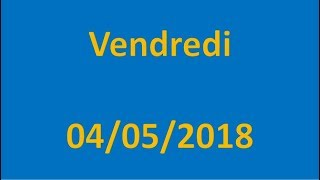RESULTATS EURO MILLIONS DU 04/05/2018 !