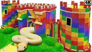 DIY - How T๐ Build Amazing Castle for Python and Snake From Magnetic Balls ( Satisfying )