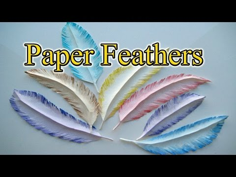 How to make a paper feather in 5 Minutes - Gift Wrapping Ideas Creative