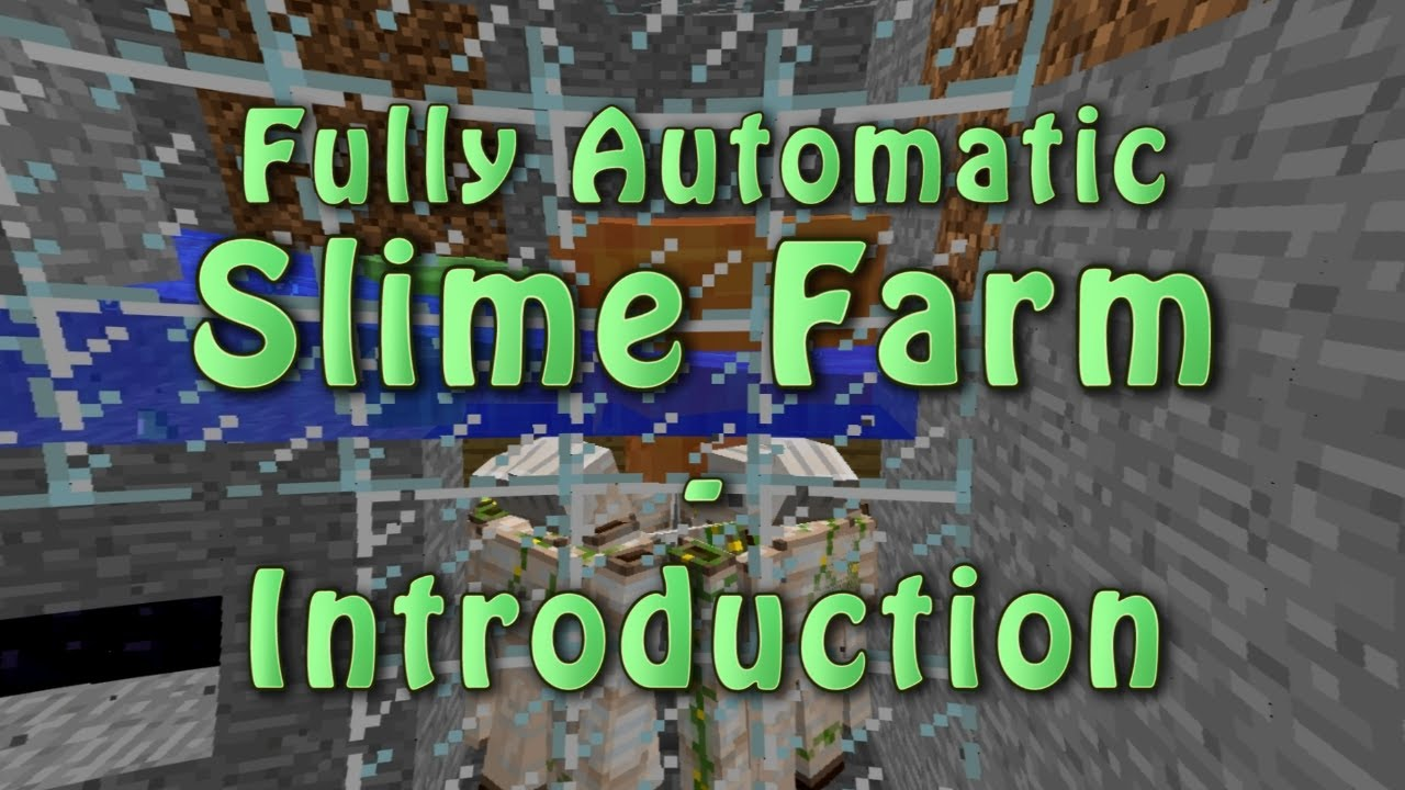Automatic Slime Farm - Minecraft Tutorial