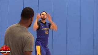 Steph Curry Shooting Workout Post Practice In Los Angeles. HoopJab NBA
