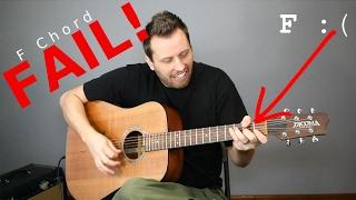 Guitar CHEATS! - 5 Eąsy Ways To Play an F Chord!