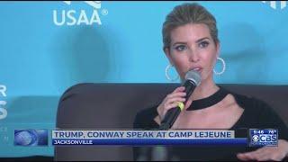Ivanka Trump attends event at Camp Lejeune