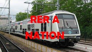 Train en Gare de Nation - RER A