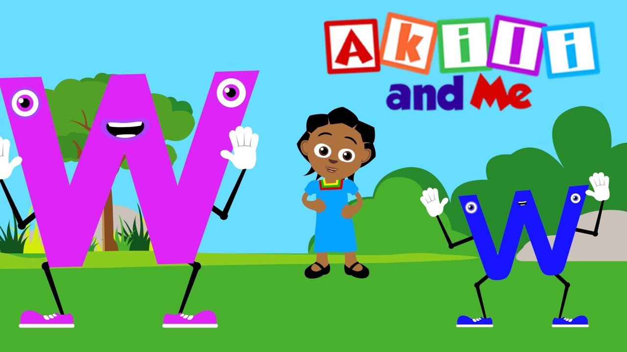 The Letter W Song | Educational phonics song from Akili and Me, African Animation!