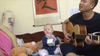 Ôi đàn bà guitar cover  02 bố con CỰC KUTE tặng bà xã