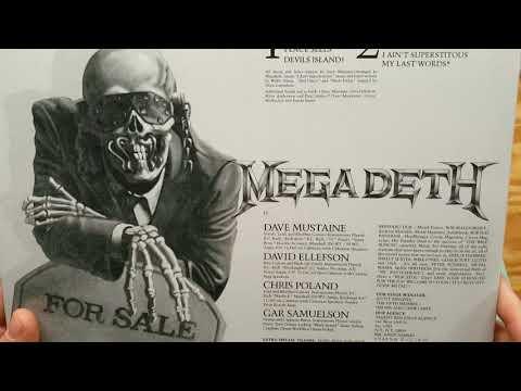 Megadeth Peace Sells vinyl lp 180 gram unboxing & review vinyl collection Mp3