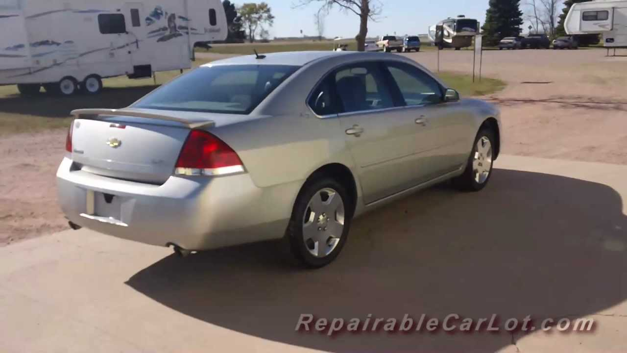 2007 Chevy Impala For Sale >> 2007 Chevrolet Impala Ss 4dr Repairable Wrecked Car