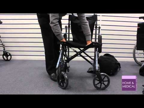 Using a Travelite Lightweight Folding Travel Wheelchair in a Bag