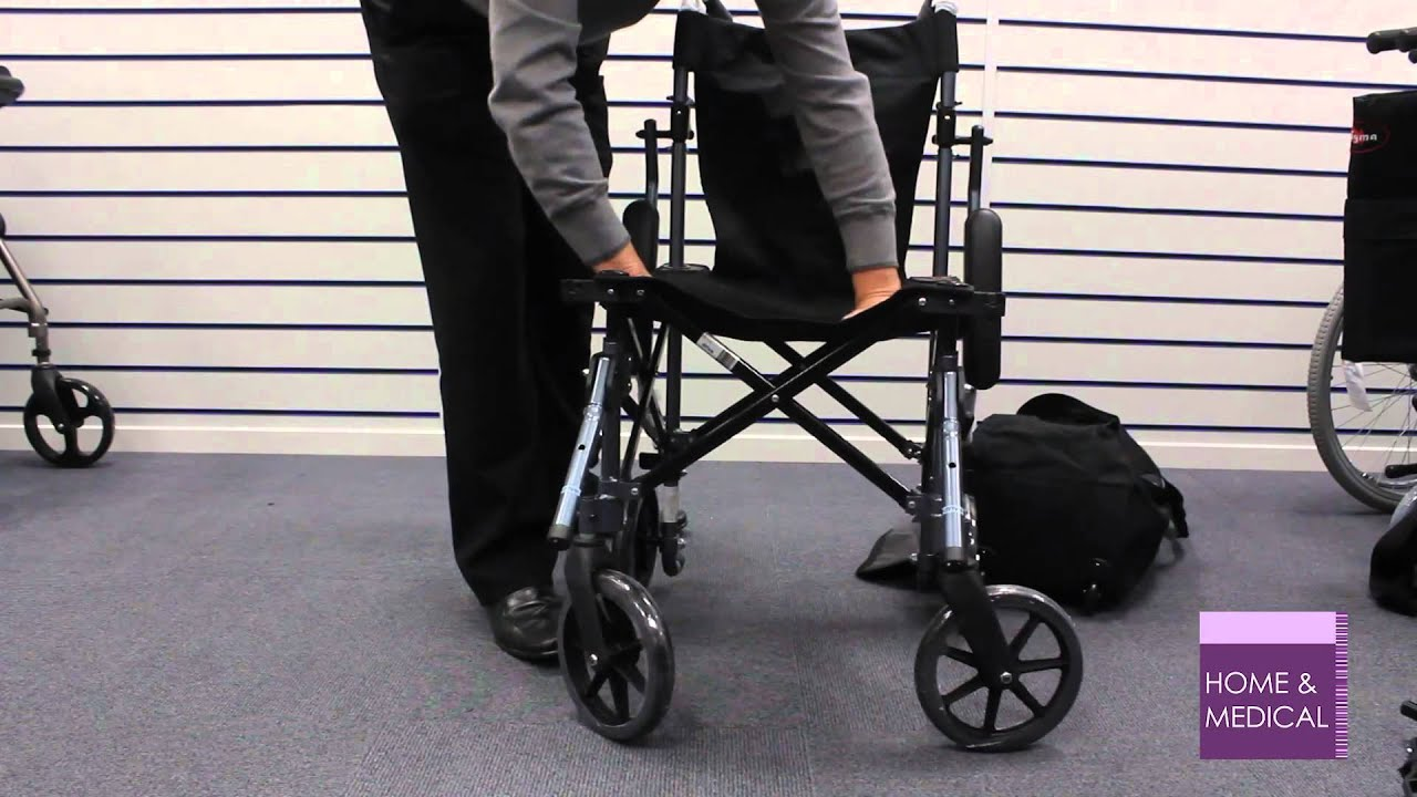 Folding Chair Travel Stretching Gym Using A Travelite Lightweight Wheelchair In Bag - Youtube