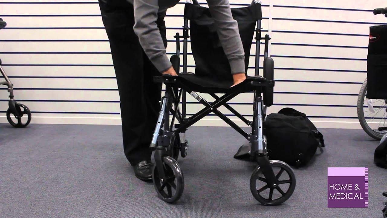 Using A Travelite Lightweight Folding Travel Wheelchair In