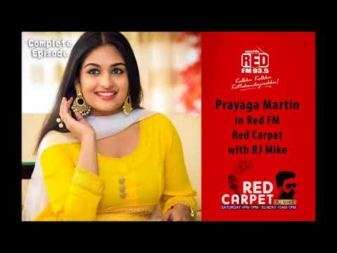 Prayaga Martin in 'Red FM Red Carpet' with RJ Mike   Christmas Special   Red FM Kerala