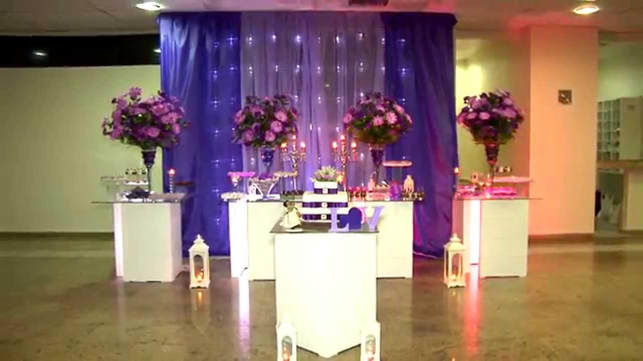 Decoração roxo com lilás  Casamento Veronica e Luis  YouTube