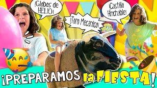 🎉 ¡¡Preparamos la FIESTA de CUMPLEAÑOS de DANI!! 🐮 TORO mecánico, 🏰 CASTILLO Hinchable, y MÁS!!🎈 thumbnail