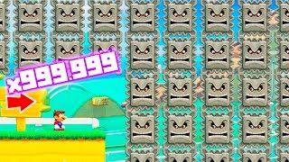 999.999.999 THWOMPS en Super Mario Maker 2