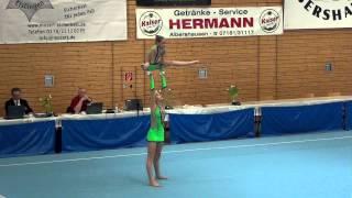 Albershausen 2015   009   009   WP   Youth   Bal   GER   TV Ebersbach, Lena Fassbänder & Lilia Sadou