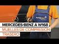 Cómo reemplazar muelles de compresión trasero en MERCEDES-BENZ A W168 INSTRUCCIÓN | AUTODOC