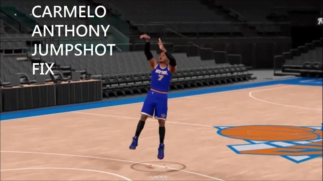 2k16 Carmelo Anthony Jumpshot Fix - YouTube