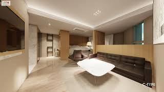 부산시티호텔 객실 복도 인테리어 디자인제안/Busan …