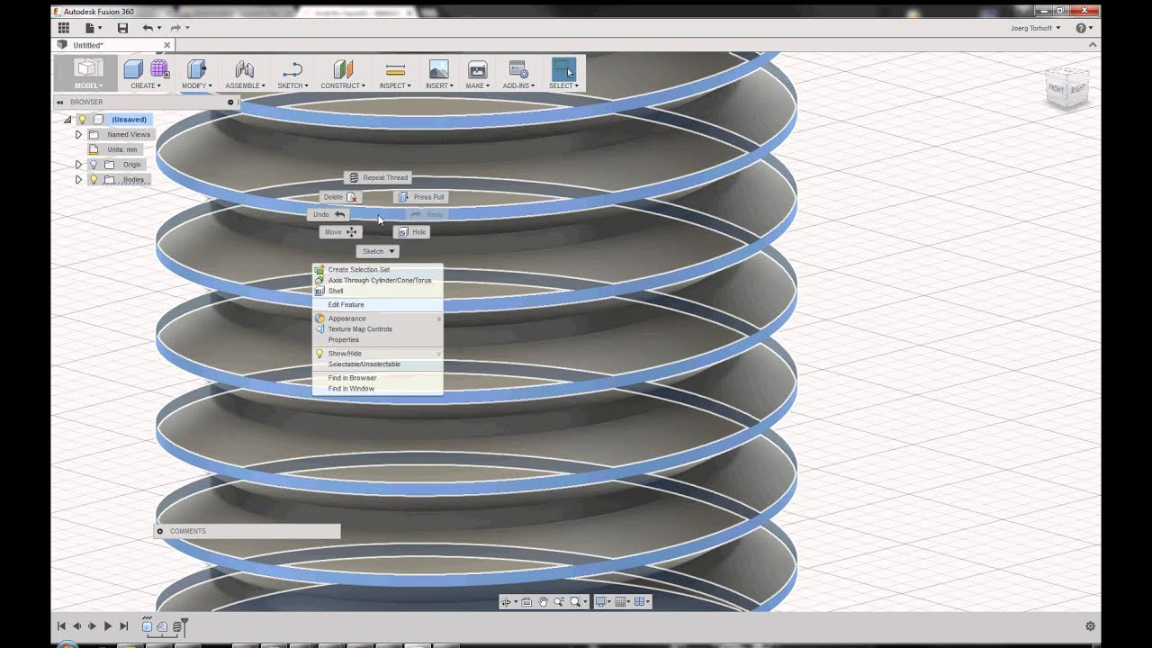Fusion 360 - thread optimization for 3D printing - YouTube