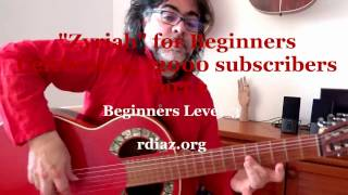 Zyryab for beginners (2) theme by Paco de Lucia / Learn flamenco guitar online with Skype/Ruben Diaz