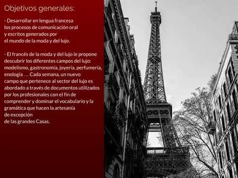 """Presentación formación de francés profesional: """"Moda, Diseño y Lujo"""" TIIC Studios"""