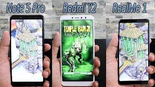 Redmi Y2 Vs RealMe 1 Vs Redmi Note 5 Pro Comparision , 4GB Variante Speed Test Comparision , HINDI