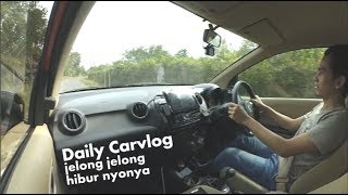 daily carvlog honda brio jalan jalan gak jelas