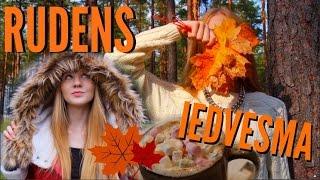 RUDENS IEDVESMA makeup, apģērbu komplekti, DIY, ko darīt rudenī l EVELINA PARKERA