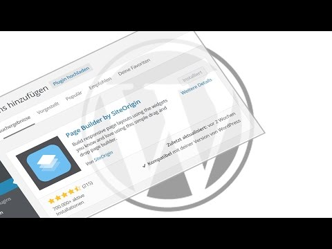 WordPress Page Builder Plugin – SiteOrigin – Spalter und Zeilen erstellen – Anleitung / Tutorial