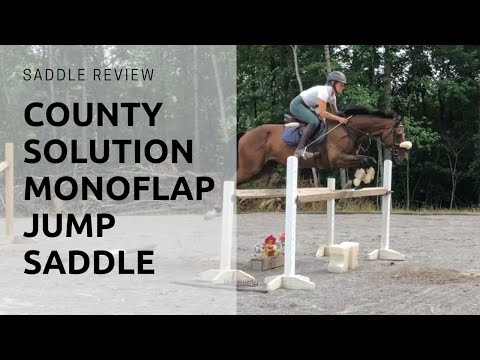 Saddle Review: County Solution Monoflap Jump Saddle