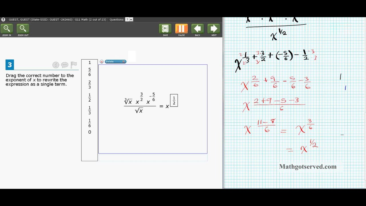 SBAC Grade 11 pt II Math Common core Released Item simple guide ...