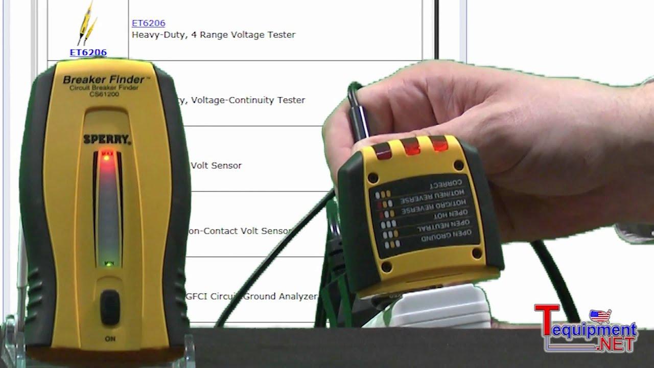 Sperry CS61200 Breaker Finder Circuit Breaker Locator - YouTube